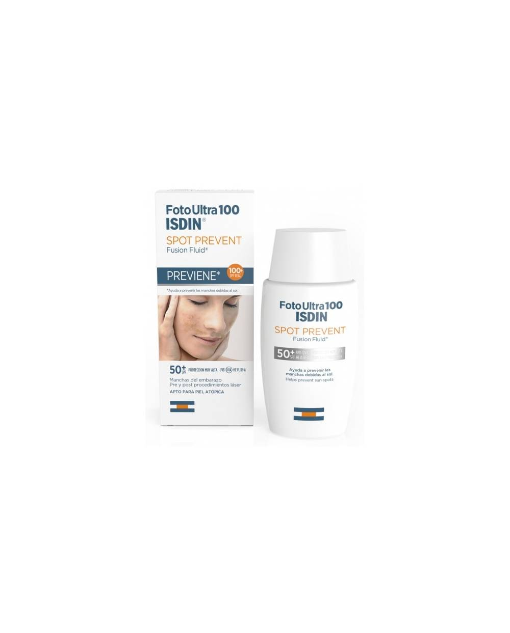 Fusion fluid isdin - spot prevent - spf 100+ -  50 ml