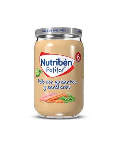 Nutriben pollo guisantes y zanahorias 235 gr