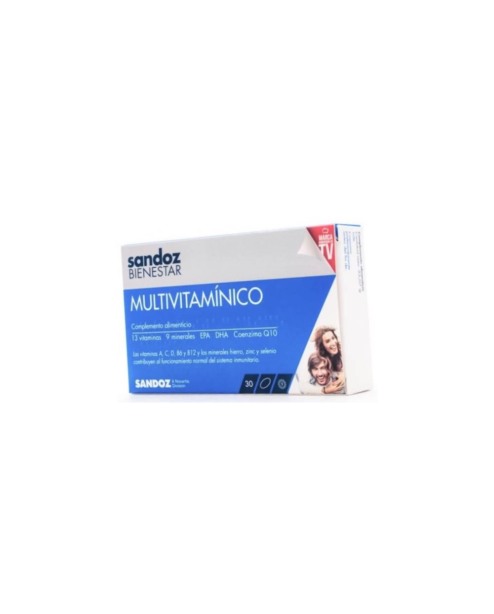 Multivitamínico 30 comprimidos sandoz bienestar