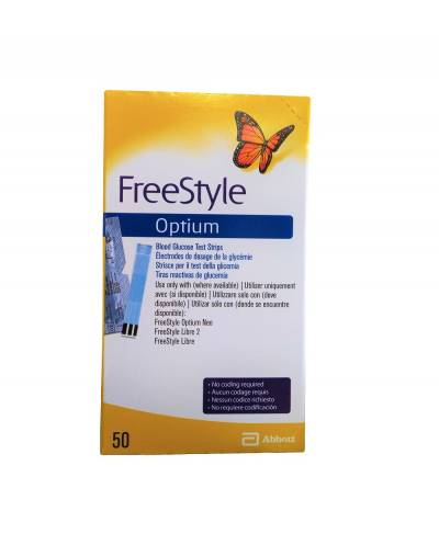 Tirsa reactivas Freestyle Optium 50 tiras