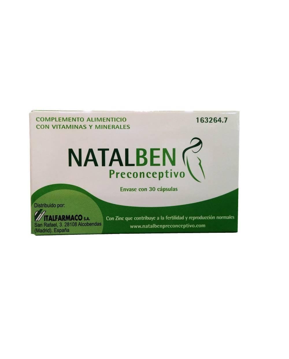 Natalben - preconceptivo - 30 cápsulas