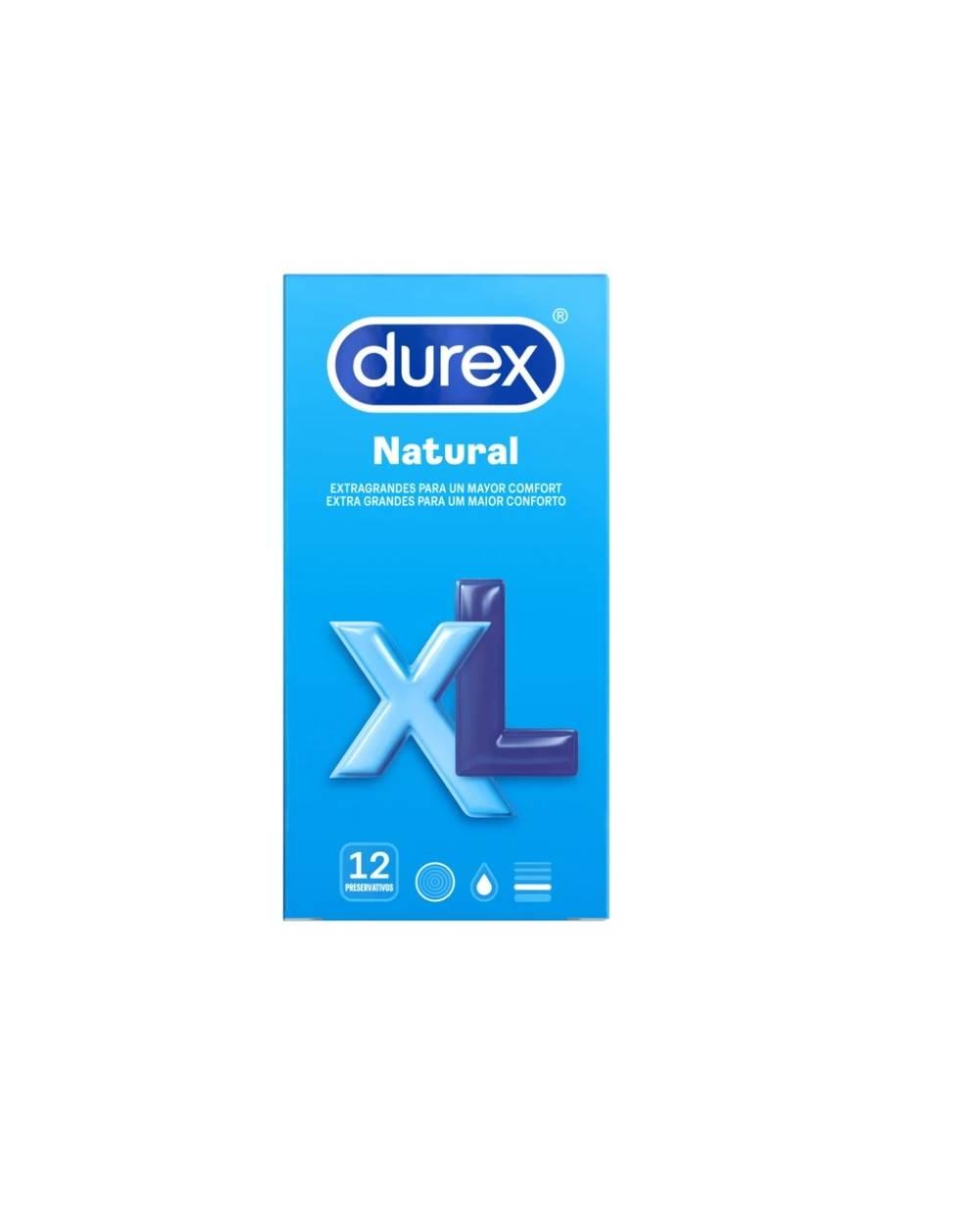 Preservativos Durex - Natural XL - 12 Unidades