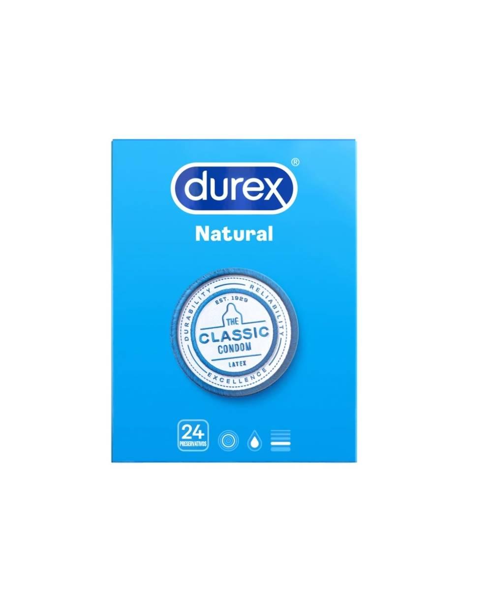 Preservativos Durex Natural Plus - 24 unidades