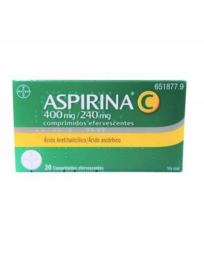 Aspirina C 400/240 mg - 20 comprimdos efervescentes