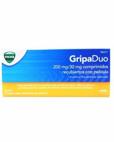 Gripaduo - 200 mg / 30 mg - 20 comprimidos
