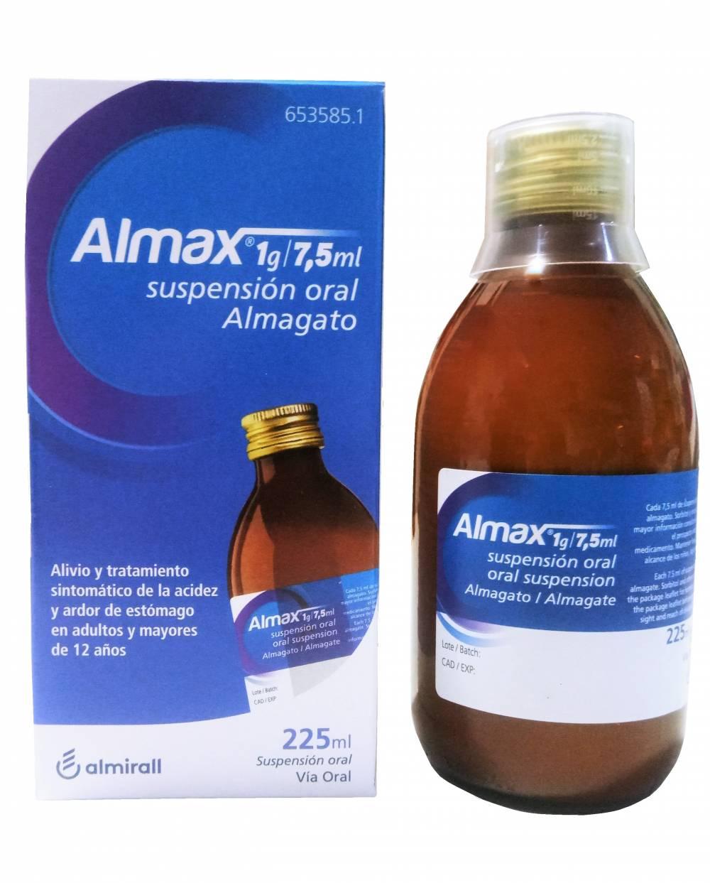 Almax - 1g/7.5 ml - 225 ml suspensión oral