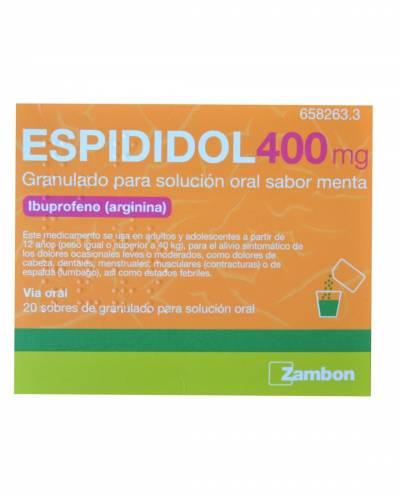 Espididol 400 mg - 20 sobres sabor menta