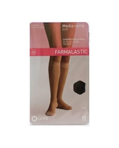 Media corta compresión normal talla pequeña 1und farmalastic