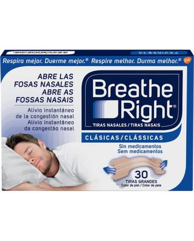 Breathe rigth 30 tiras grande clásicas