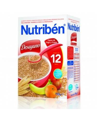 Nutriben desayuno copos de trigo y frutas - 750 gr