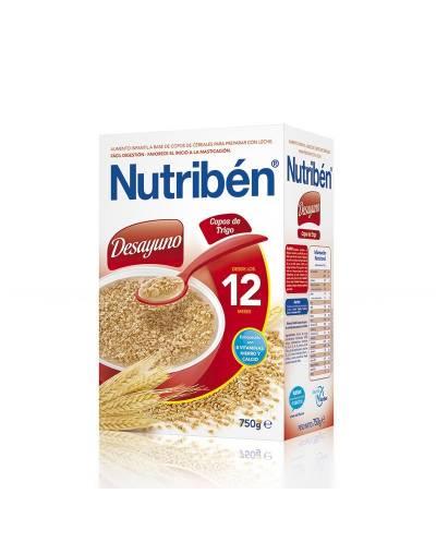 Nutriben desayuno copos de trigo - 750 gr