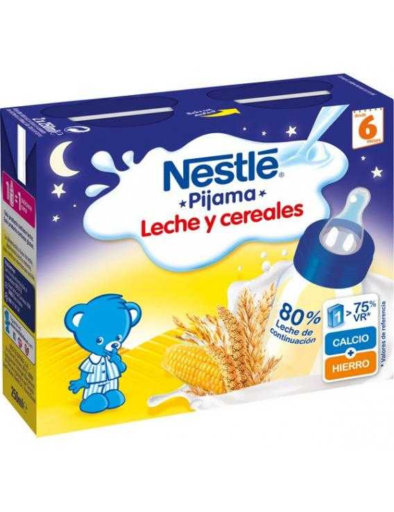 Nestle pijama papilla líquida leche y cereales - 2x250 ml
