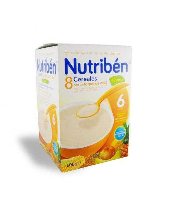 Nutriben 8 cereales con un toque de miel / 4 frutas