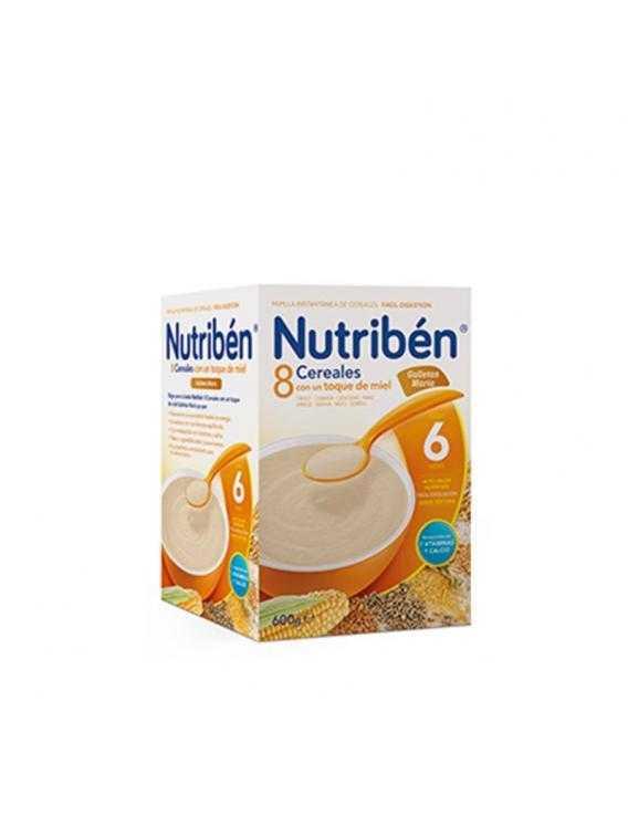 Nutriben 8 cereales con un toque de miel y galletas maria - 600 gr