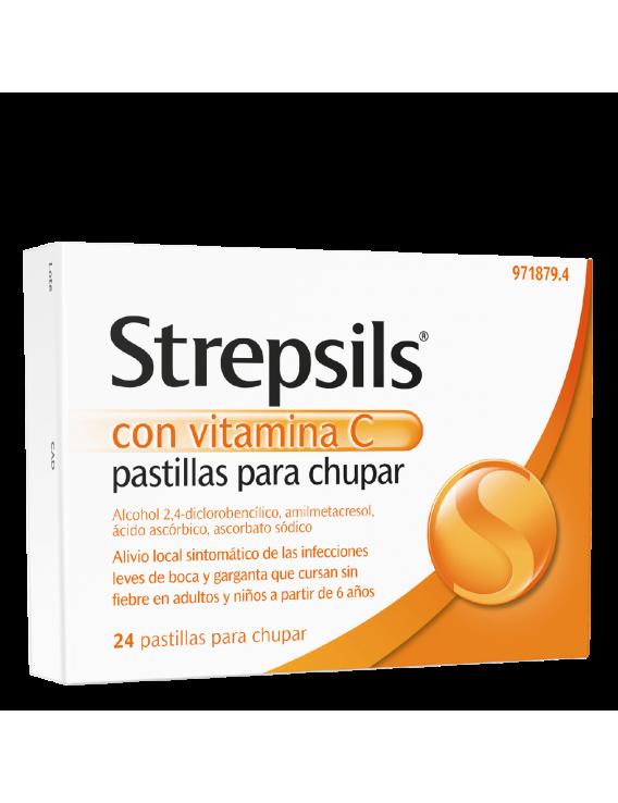 Strepsils con vitamina c - 24 pastillas para chupar