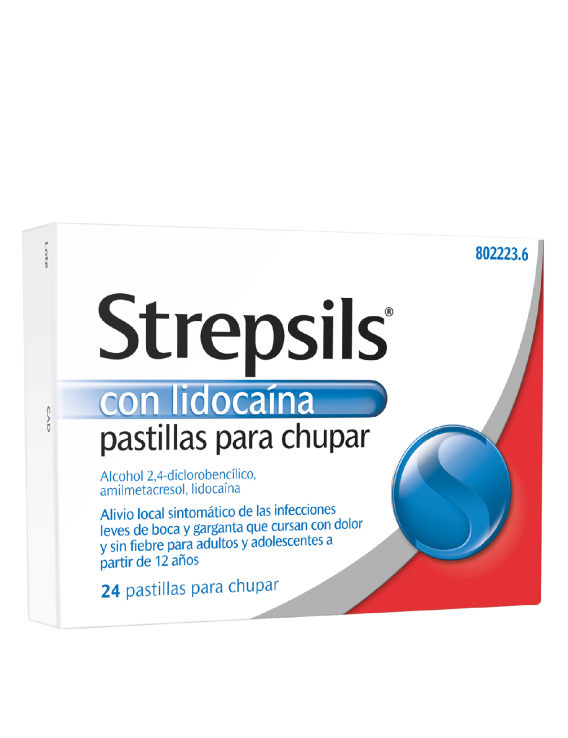 Strepsils con lidocaína - 24 pastillas para chupar