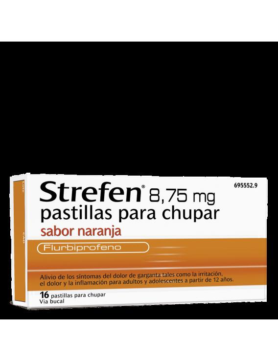 Strefen sabor naranja - 8.75 mg - 16 pastillas para chupar
