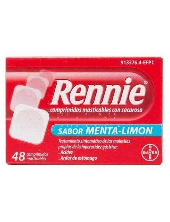 Rennie Sabor Menta-Limón - 48 Comprimidos Masticables