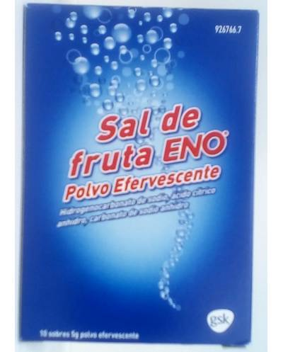 Sal De Fruta Eno - 10 Sobres 5 G Polvo Efervescente