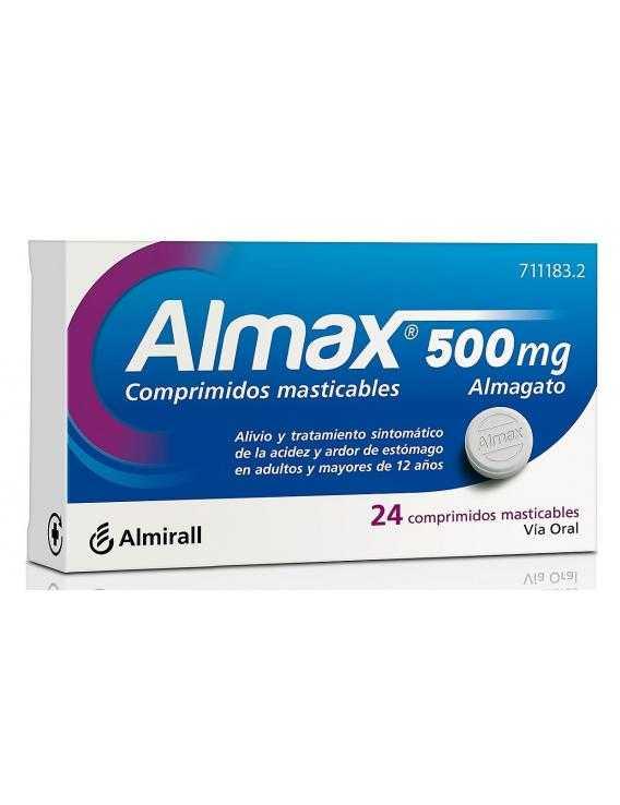 ALMAX - 500 MG - 24 COMPRIMIDOS MASTICABLES
