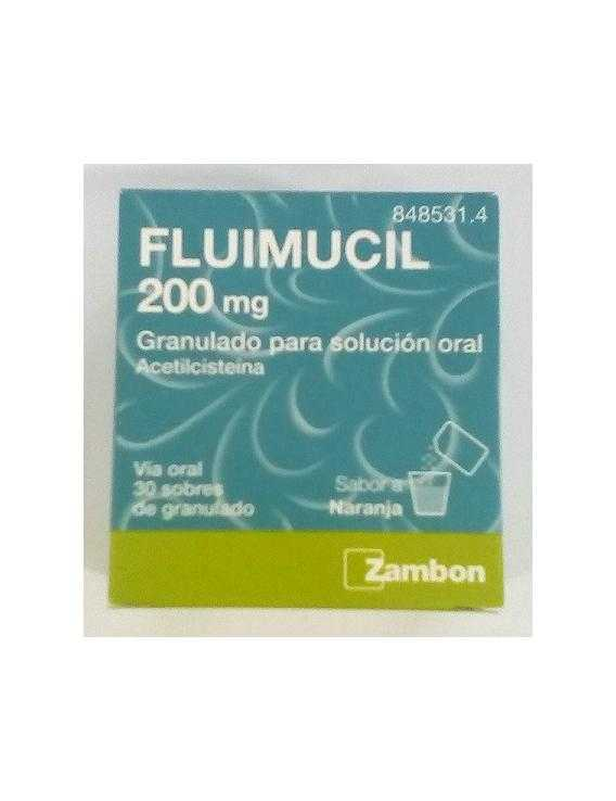 Fluimucil 200 mg - 30 sobres sabor a naranja