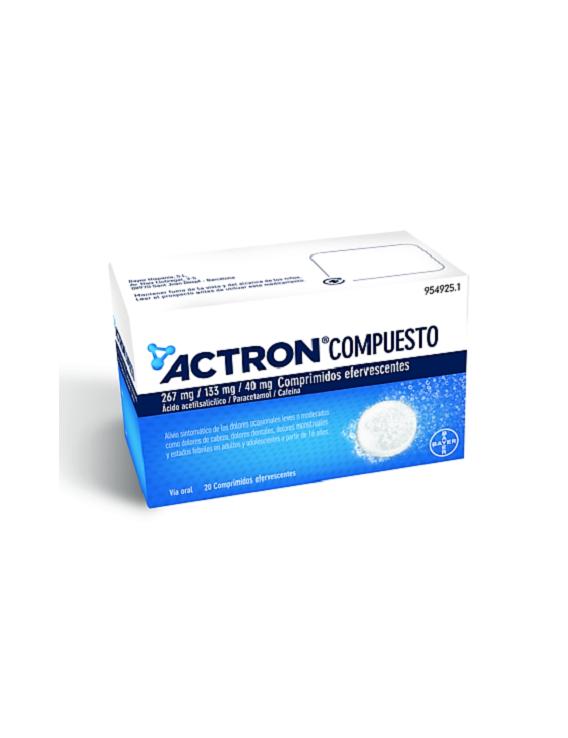 Actron compuesto - 20 comprimidos efervescentes