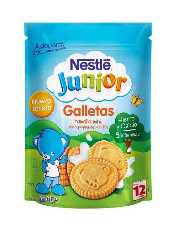 Nestle junior galletas 5 vitaminas - 180gr