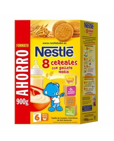 Nestle 8 cereales con galletas maria 900 g