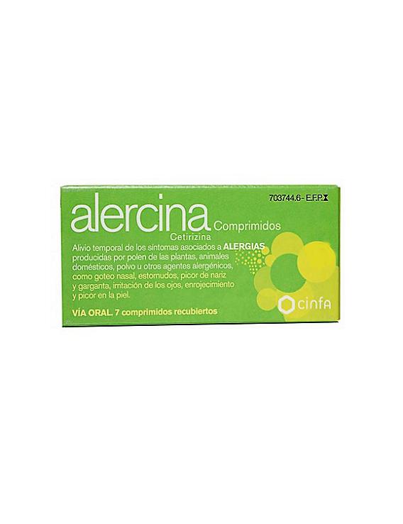 Alercina 10 mg - 7 comprimidos