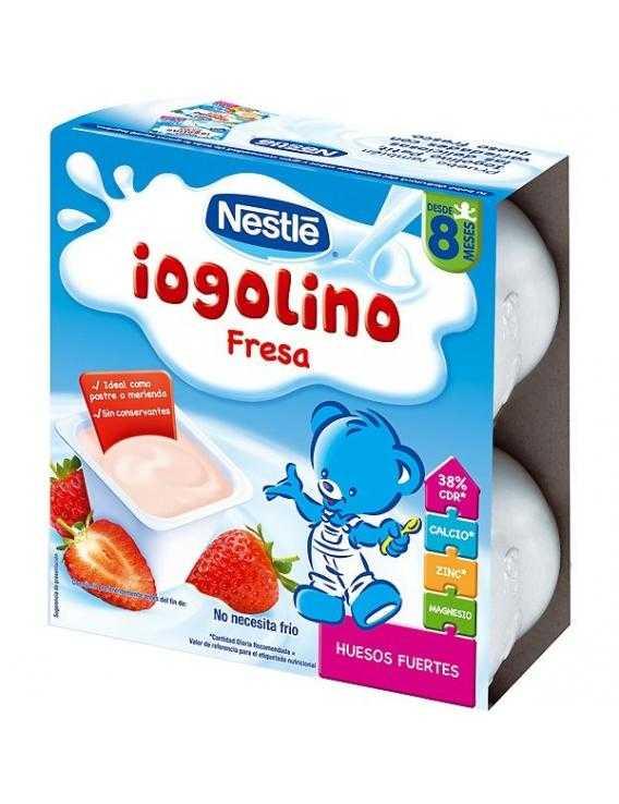 Nestle postre lácteo fresa 4x100
