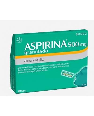 ASPIRINA 500 MG - 20 SOBRES