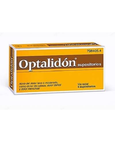 OPTALIDÓN - 6 SUPOSITORIOS