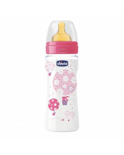 Biberon Chicco  Well-Being  4m+  Latex  330 Ml