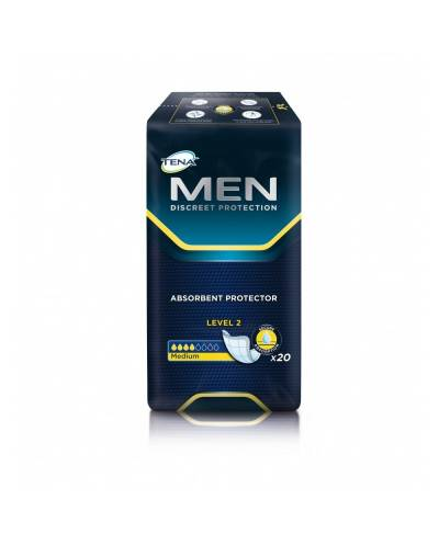 Tena Men - Discreet Protection  Level 2 - Medium - 20 Unidades