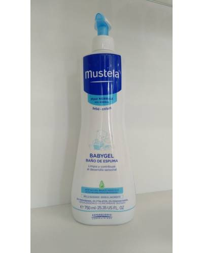 Mustela babygel baño de espuma - 750 ml