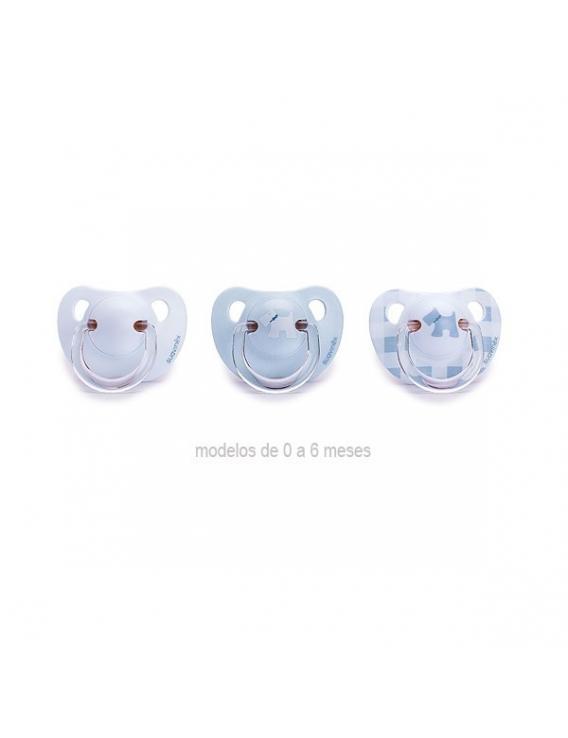 Chupete evolution - 0-6 meses - látex - azul - suavinex