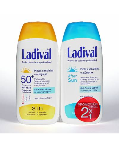Ladival Pack 50+ Pieles Sensibles + After Sun 200 ml