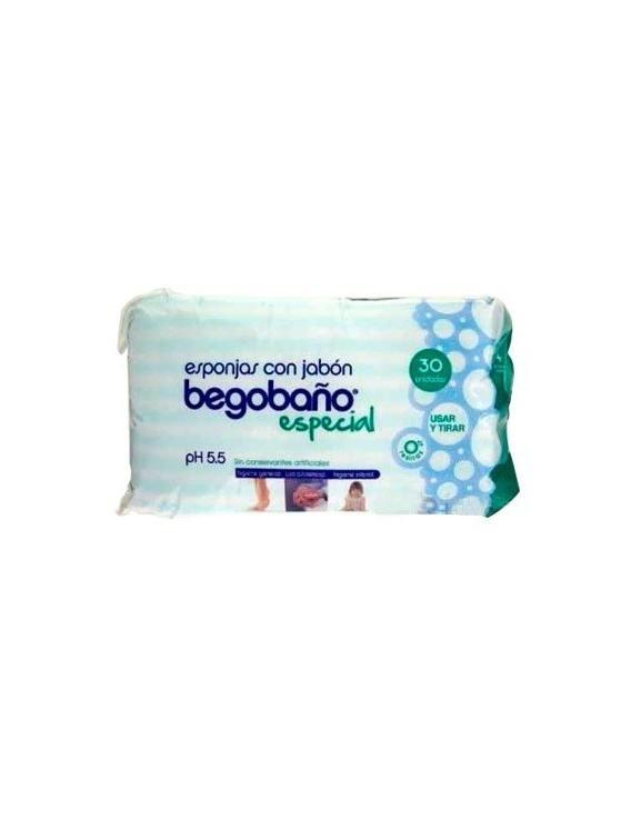 Begobaño - esponjas con jabón - 30 unidades