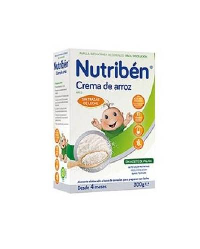 Nutriben crema de arroz sin gluten - 300 gr