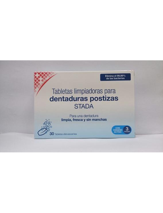 Tabletas limpiadoras para dentaduras postizas stada 30 unid