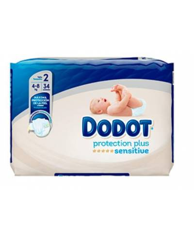 Dodot sensitive pañales  t:2  4-8 kg