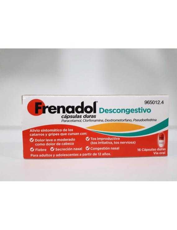 Frenadol Descongestivo - 16 Cápsulas