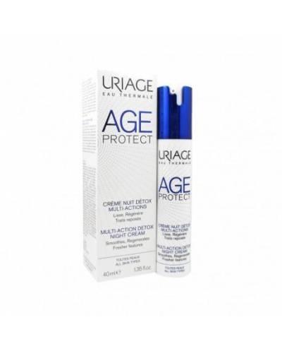 Crema De Noche Detox Multiacción 40 Ml Uriage - Age Protect
