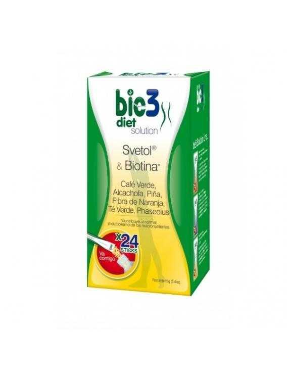 Bio3 diet solution  svetol y biotina   24 sticks