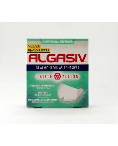 Algasiv  18 almohadillas adhesivas dentadura superior