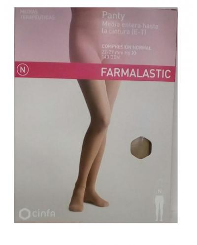 Panty media entera hasta la cintura (e-t) talla mediana farmalastic