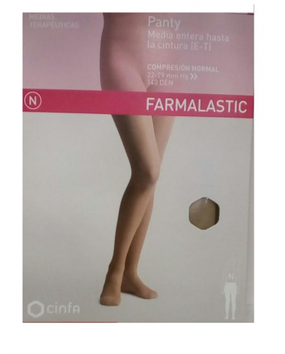 Panty media entera hasta la cintura (e-t) talla grande farmalastic