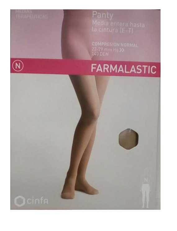 Panty media entera hasta la cintura (e-t) talla reina farmalastic