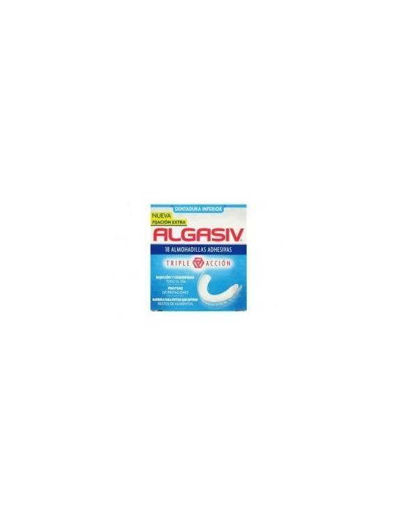 Algasiv 18 almohadillas adhesivas dentadura inferior