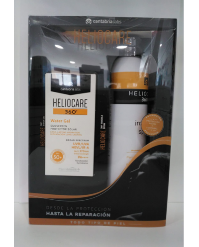 Pack heliocare 360º water gel+invisible spray